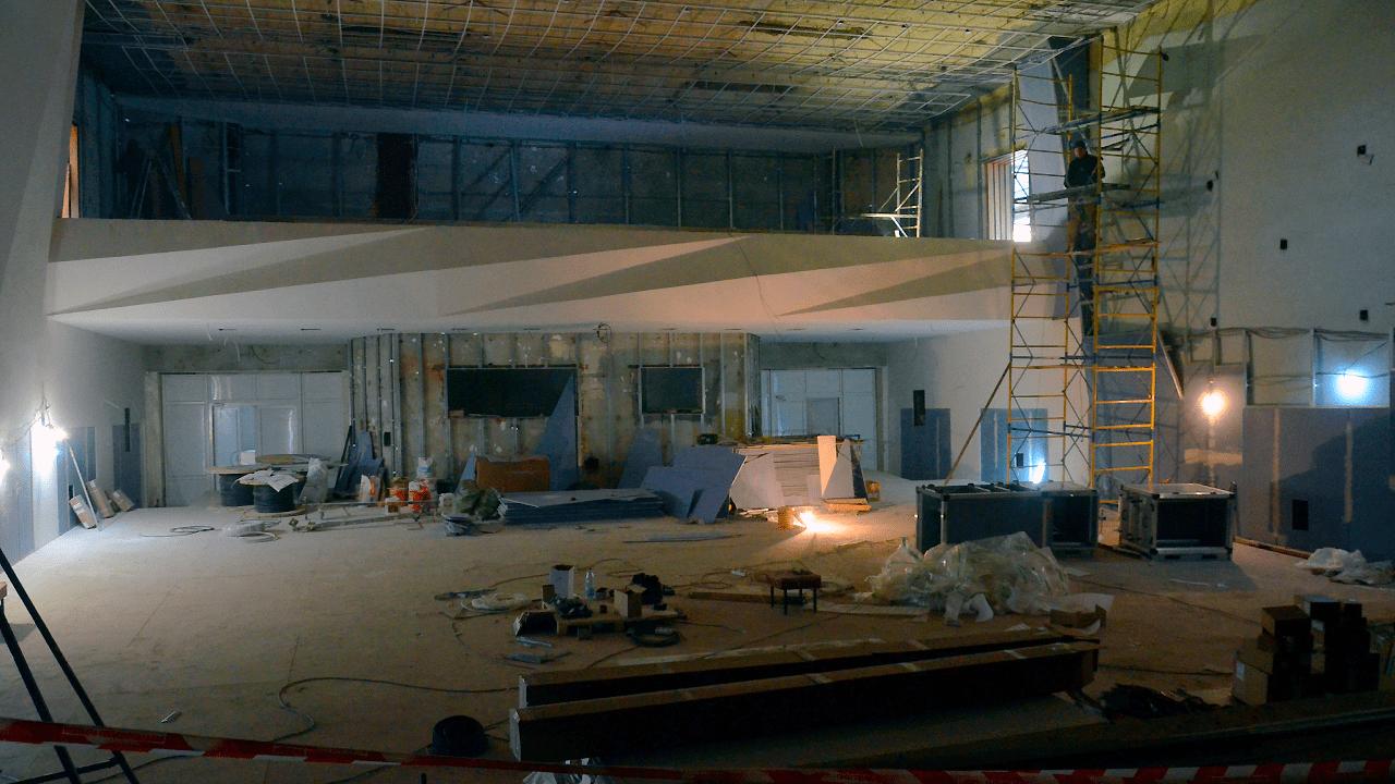 Фотография с ремонта зрительного зала Дворца культуры им. В.К. Костевича